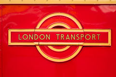 Vintage London Transport badge. Stock Images