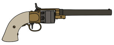Vintage long revolver Royalty Free Stock Photography