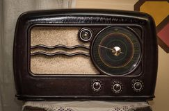 Vintage Long Wave and Short Wave broadcast reciever royalty free stock photography