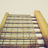 Vintage look Baffron Tower London Stock Images