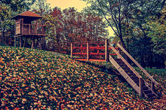 Vintage look on beginning of autumn in a park Royalty Free Stock Photos