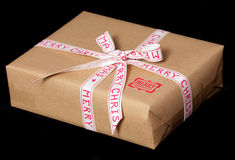 Vintage look christmas present Royalty Free Stock Images