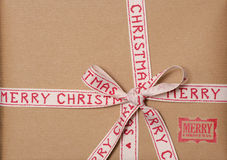 Vintage look christmas present background Royalty Free Stock Images
