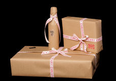 Vintage look christmas presents Royalty Free Stock Images