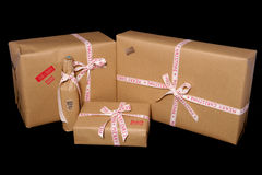 Vintage look christmas presents Royalty Free Stock Photography
