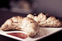 Vintage look  croissant Stock Image