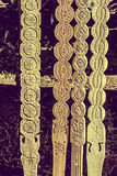 Vintage look at decorative wooden carved Royalty Free Stock Photo