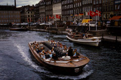Vintage look at an Excursion boat in Denmark circa 1961. Royalty Free Stock Image