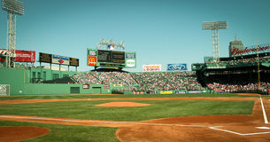 Vintage look at Fenway Park, Boston, MA. Royalty Free Stock Photos