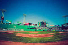 Vintage look at Fenway Park, Boston, MA. Stock Photos