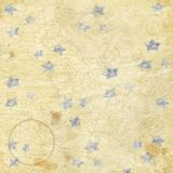 Vintage Look Map Stars and Splatters Grunge  Paper Background Stock Photos