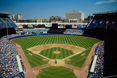 Vintage look at Old Yankee Stadium, Bronx, NY Stock Images