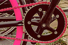 Vintage look at one bicycle detail 6 royalty free stock image