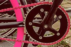Vintage look at one bicycle detail 6 Royalty Free Stock Image