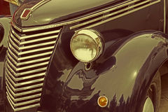 Vintage look at one old italian car Stock Photos