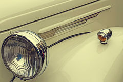 Vintage look at one old luxury car 1 Royalty Free Stock Images