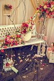 Vintage look at rustic and romantic decoration 2 Royalty Free Stock Image