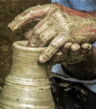Vintage look at traditional work in ceramic Royalty Free Stock Image