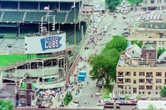 Vintage look at Wrigley Field, Chicago, IL. Royalty Free Stock Image