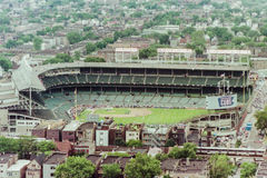 Vintage look at Wrigley Field, Chicago, IL. Stock Image