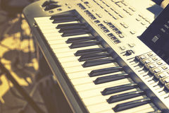 Vintage looking Detail of keys on music keyboard Royalty Free Stock Photos