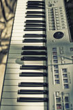 Vintage looking Detail of  keys on music keyboard Royalty Free Stock Image