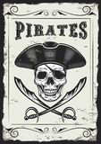 Vintage Looking Invite Template for a Party or Event with Death or Pirate royalty free illustration