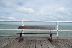 Vintage looking pier royalty free stock photography