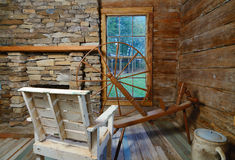 Vintage Loom. A vintage loom in a period style house Stock Images