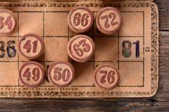 Vintage lotto Royalty Free Stock Photo