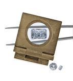 Vintage loupe over diamond and tweezers Stock Photography