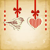 Vintage love card Royalty Free Stock Photos