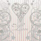 Vintage Love card Stock Images