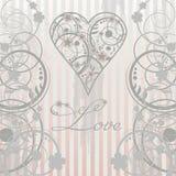 Vintage Love card Stock Images