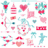 Vintage Love Elements Stock Photography