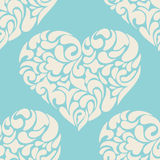 Vintage love heart  vector pattern Royalty Free Stock Image