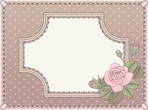 Vintage love invitation card Royalty Free Stock Photography