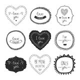 Vintage love labels Royalty Free Stock Photo