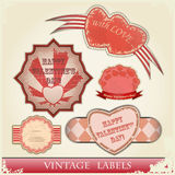 Vintage love labels set Royalty Free Stock Images