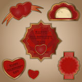 Vintage love labels set Stock Photography