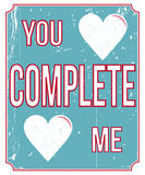 Vintage love poster. Vintage style love poster to show some loving Royalty Free Stock Images