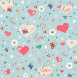 Vintage Love siamless pattern Stock Photo