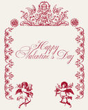Vintage love vector background. Illustration of vintage love vector background Royalty Free Stock Images