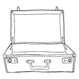 Vintage Luggage   Suitcases Travel Open is empty cute lineart i Stock Photography