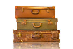 Vintage luggage for travel Stock Images