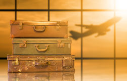 Vintage luggage for travel Stock Image