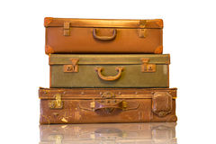 Vintage luggage for travel Stock Photography