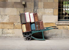 Vintage luggage trolley Royalty Free Stock Photos