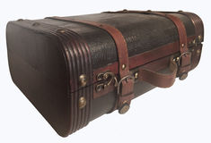 Vintage Luggage Trunk Steamer. Vintage Luggage Steamer Trunk with leather and wood trim Royalty Free Stock Photos