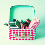 Vintage lunchbox Stock Images